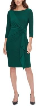 Jessica Howard Petite Ruched Side-Twist Sheath Dress