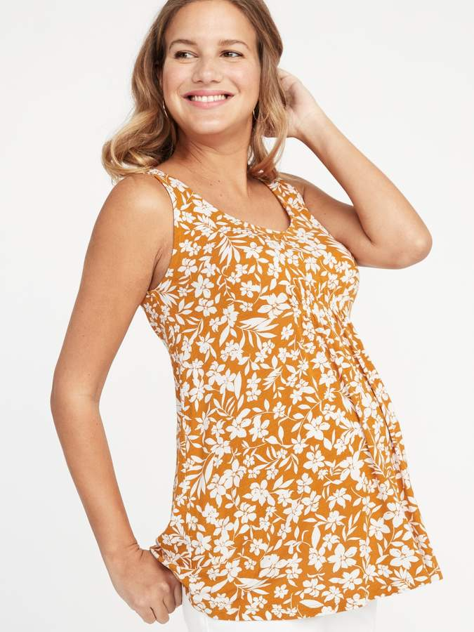 Old Navy Maternity Floral-Print Jersey Sleeveless Top