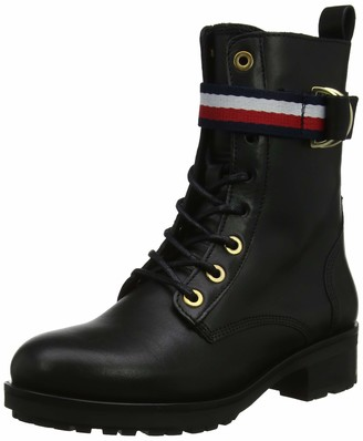 Tommy Hilfiger Women's Corporate Ribbon Bikerboot Ankle Boots