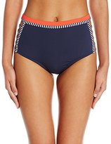 Tommy Hilfiger Women's Strappy Stripes High Waist Bikini Bottom