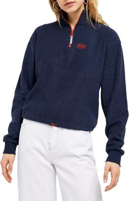BDG Half-Zip Terry Cloth Pullover