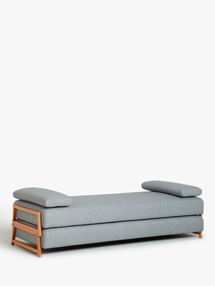 John Lewis & Partners Duplet Daybed, Light Leg, Hatton Light Grey
