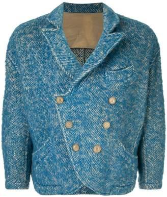 Yohji Yamamoto Pre-Owned oversized double-breasted tweed jacket
