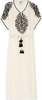 Figue Naya embellished silk-georgette midi dress