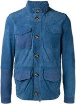 Eleventy four pocket patchwork jacket - men - Cotton/Suede/Polyester/Spandex/Elastane - 48