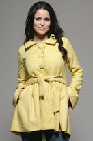 Three Button Coat in Yellow