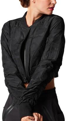 Blanc Noir Bombadier Camo Jacquard Crop Jacket