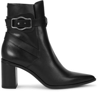 Rag & Bone Brynn Jodhpur 75 black leather ankle boots