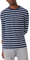 Topman Men's Stripe Slim Fit Long Sleeve T-Shirt