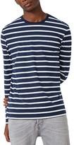 Topman Men's Stripe Slim Fit Long Sleeve T-Shirt