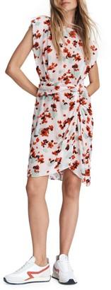 Rag & Bone Gigi Sleeveless Gathered Floral Dress