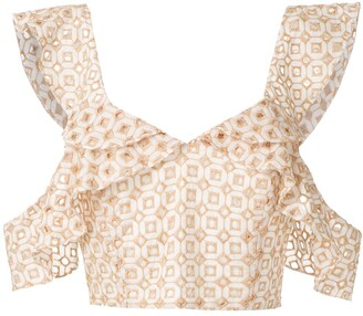 Olympiah Orchid cropped top