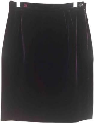 Ungaro Burgundy Velvet Skirts
