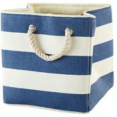 Baby Essentials Stripes Around the Cube Bin (Dk. Blue)