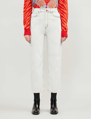 Sandro Straight-leg high-rise jeans
