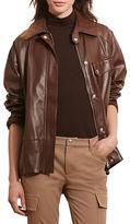 Lauren Ralph Lauren Haldana Leather Full-Zip Jacket