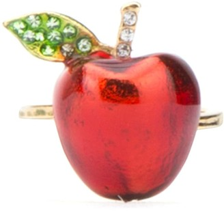 Miu Miu Crystal Embellished Apple Ring