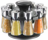 Cole & Mason Hudson 10-Jar Filled Herb and Spice Carousel/Rack Plastic and Glass - Black, 21 c m