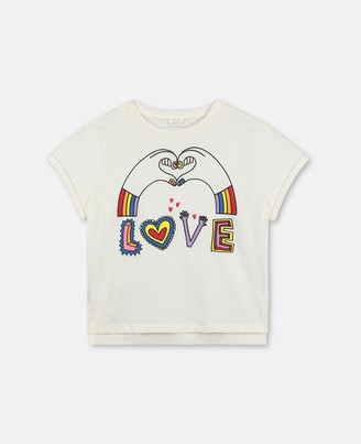 Stella McCartney love hands cotton t-shirt