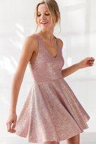 Silence & Noise Silence + Noise Sinderella Sparkle Mini Dress