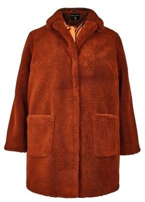 Dorothy Perkins Womens **Dp Curve Rust Teddy Coat