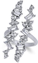 INC International Concepts Silver-Tone Wide Crystal Cuff Statement Ring, Created for Macy's