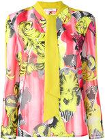Versace floral print blouse - women - Polyester - 42