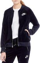 Nike Sportswear Front Zip Velour Jacket