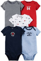 Carter's 5-pk. Short-Sleeve Sports Bodysuits - Baby Boys newborn-24m