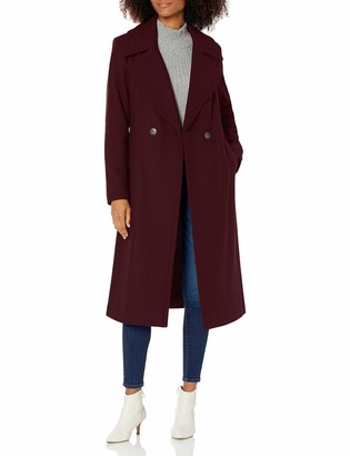 "Nine West Outerwear Women's 43"" Classic DB Long Wool Coat"