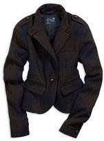 AE Plaid Wool Blazer