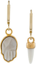 Isabel Marant Horn and Hand charm earrings