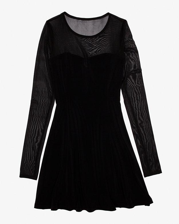 Elizabeth and James Exclusive Adia Sheer Net Sweetheart Dress