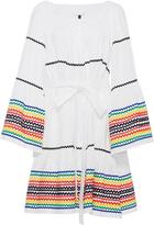 Lisa Marie Fernandez Long Sleeve Peasant Dress with Multicolored RicRac