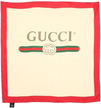 Gucci Vintage Logo Silk Twill Scarf
