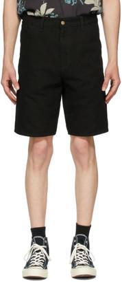Carhartt Work In Progress Black Single Knee Shorts
