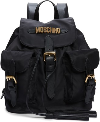 Moschino Logo Nylon Drawstring Backpack