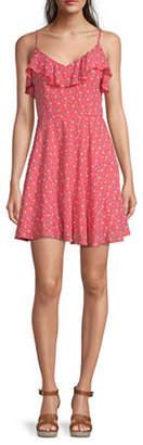Trixxi Juniors Sleeveless Floral Fit & Flare Dress