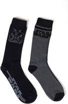 Star Wars Men's 2 Pk Crew Socks, Black, 10-13