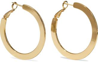 Iris & Ink 18-karat Gold-plated Hoop Earrings
