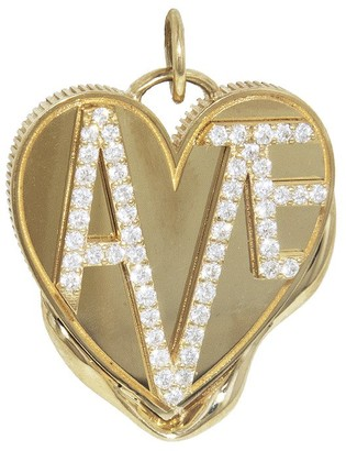 Foundrae Large Amate Vestige Heart Yellow Gold Medallion