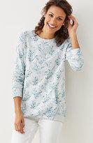 J. Jill Printed Elliptical Sweatshirt