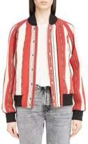Saint Laurent Tapestry Wool Blend Teddy Jacket