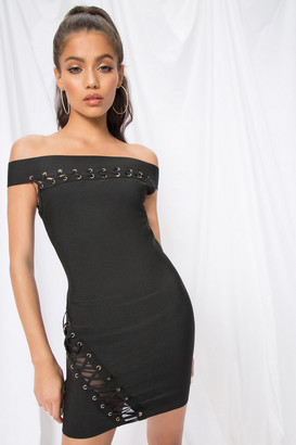 by the way. Ximea Off Shoulder Bandage Dress