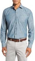 Peter Millar Men's Regular Fit Denim Sport Shirt