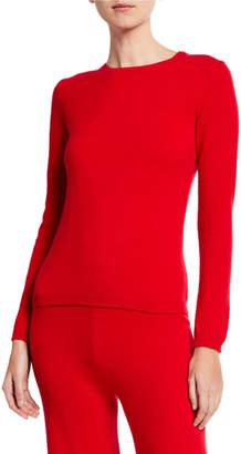 Neiman Marcus Plus Size Cashmere Crewneck Sweater & Pant Lounge Set