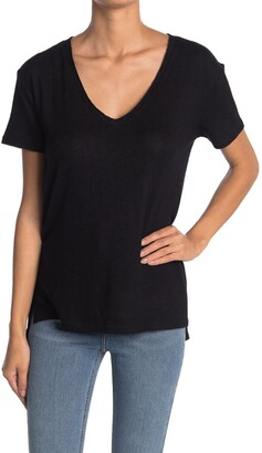 Caslon Brushed Knit V-Neck T-Shirt