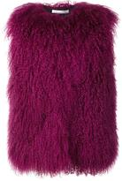 Oscar de la Renta shearling gilet - women - Silk/Lamb Fur - M