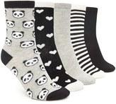 Forever 21 Panda Crew Socks - 5 Pack