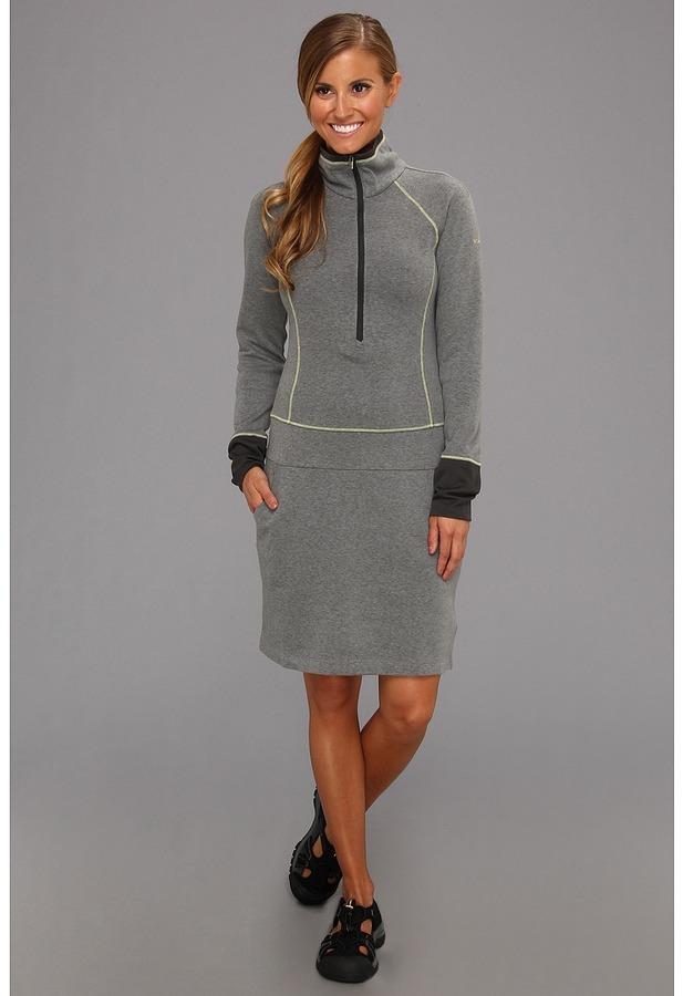 Columbia Heather Honey III Dress (Coal/Fresh Kiwi) - Apparel